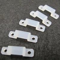 50pcs lot fixer holder clip 12mm width for fix 5050 5630 rgb single color silicone flexible led strip light