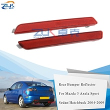 ZUK réflecteur de antibrouillard antibrouillard   Pare-choc arrière Mazda 3 M3 Axela Sport berline modèle BK 2004 2005 2006 2007 2008 2009