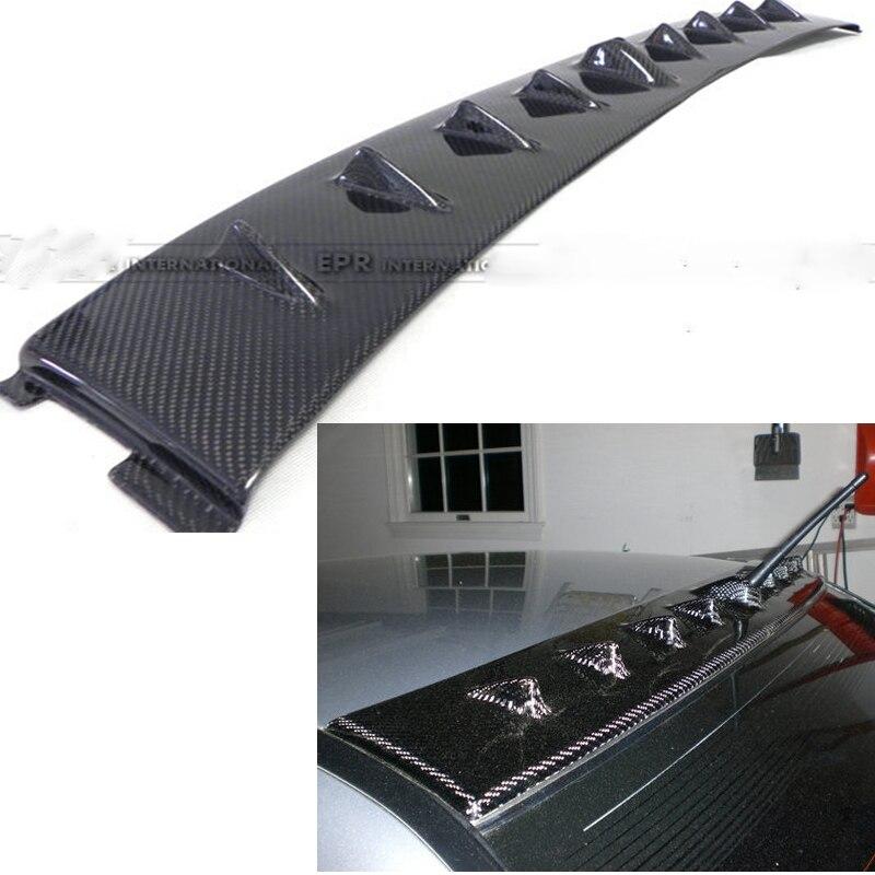 Alerón de techo de aleta de tiburón de fibra de carbono EVO para Mitsubishi Lancer Evolution EVO 7 8 9 2003-2007