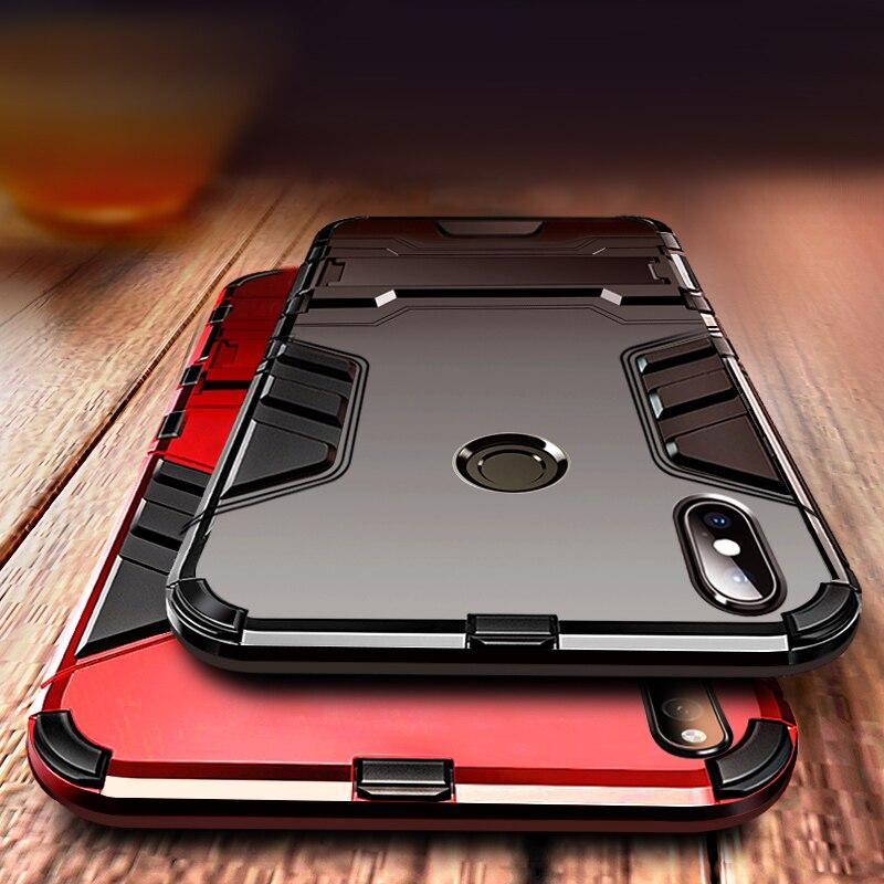 Armor Case For Xiaomi Redmi Note 8T Case TPU+PC Cover For Xiaomi Redmi Note 7 8 Pro 8A Mi A3 A2 Lite CC9 Pro Kickstand Case