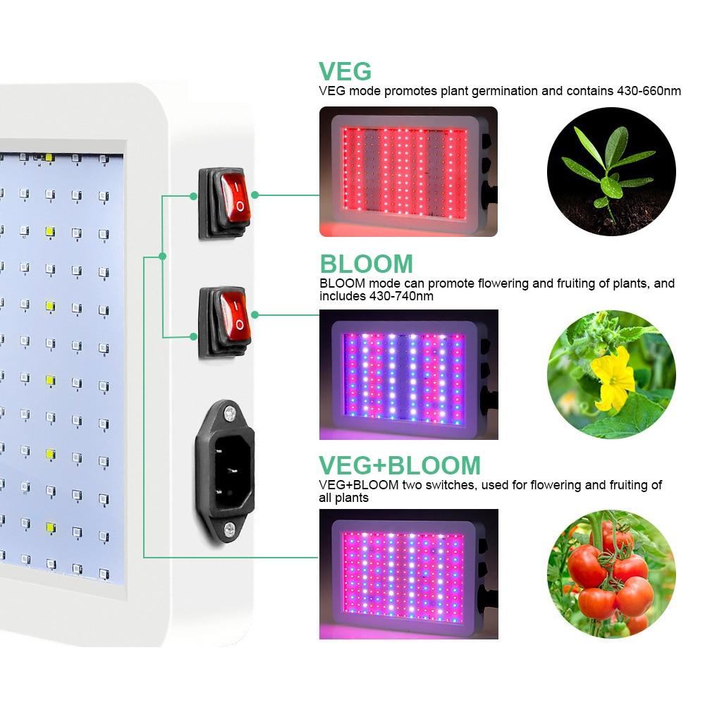 LED Grow Light Phytolamp For Plants 2835  Waterproof 2000W/1000W Led Chip Phyto Growth Lamp Full Spectrum Plant Lighting Indoor enlarge