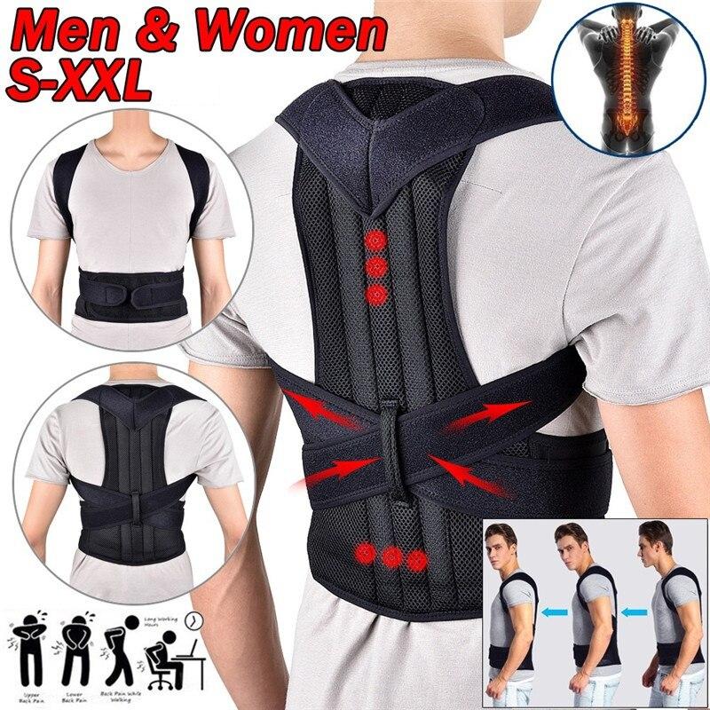 Back Waist Posture Corrector Adjustable Adult Correction Belt Waist Trainer Shoulder Lumbar Brace Sp