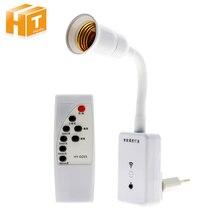 E27 Socket télécommande sans fil support de lampe variateur de temps ampoule LED interrupteur veilleuse Base 220V