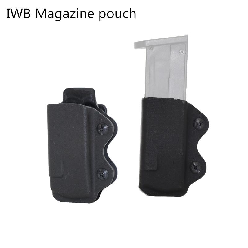 IWB Kydex Magazine Carrier pouch for Glock 17 /Sig P220 P226/APS/Px4/Beretta 92 96/CZ 75/P99 9mm gun Pouch OWB magazine pouch