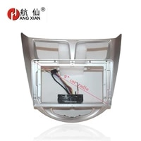 hangxian 2din car radio fascia frame for hyundai accent solaris verna i25 2011 15 car dvd gps panel dash kit installation frame