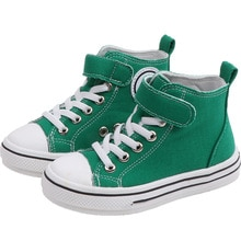 New Style Spring and Autumn New Girls Fashion Cute Smile Children Canvas Shoes Boys Wild Casual Chil