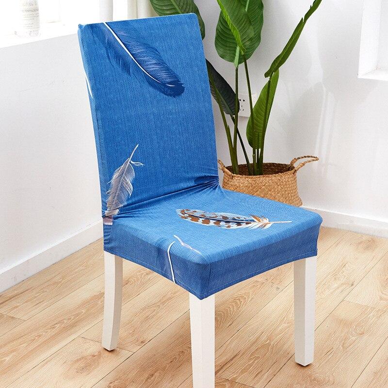Funda elástica de LICRA con estampado para silla de comedor, asiento moderno,...