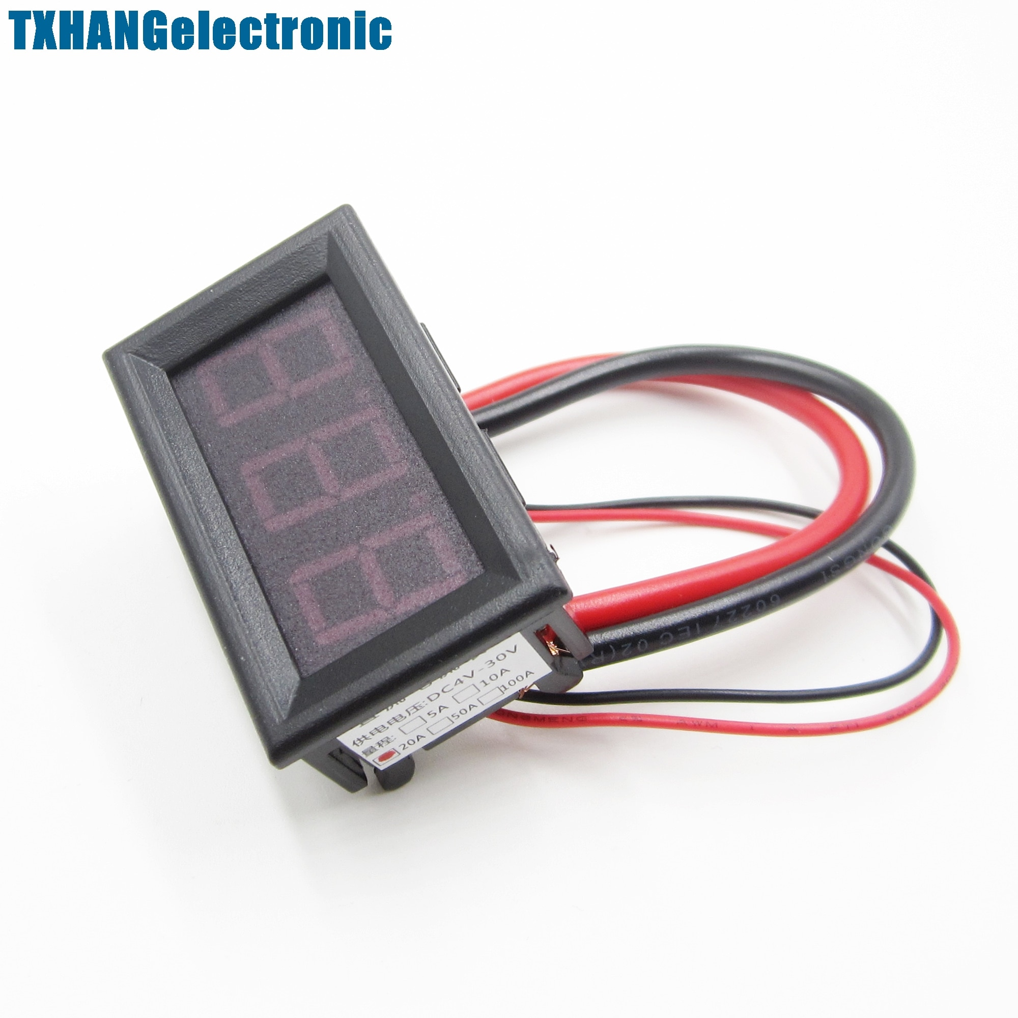 DC 0 a 20A nuevo medidor de Panel LED rojo Mini amperímetro Digital
