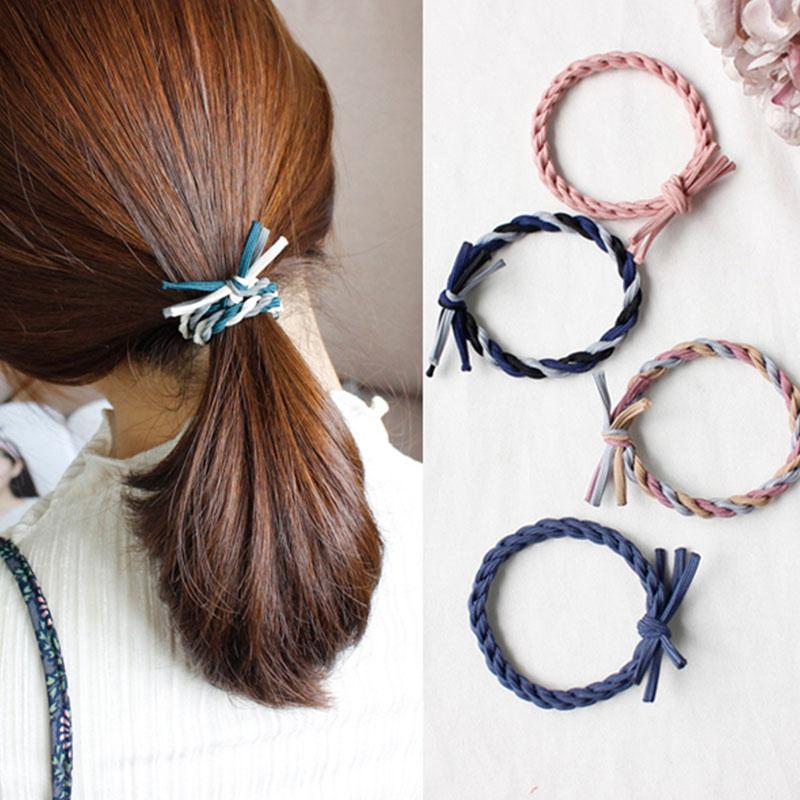 Bandas de goma para el cabello para chicas, coloridas bandas elásticas de moda para el cabello, banda para la cabeza, soporte para Coleta, lazos, goma, accesorios para el cabello para niños, regalo