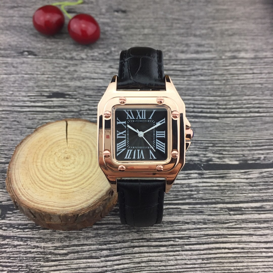 Luxury Brand New Women Quartz Wrist Watch Square Leather Strap AAA Sports Waterproof Watches Casual Simple Fashion Women Watches enlarge