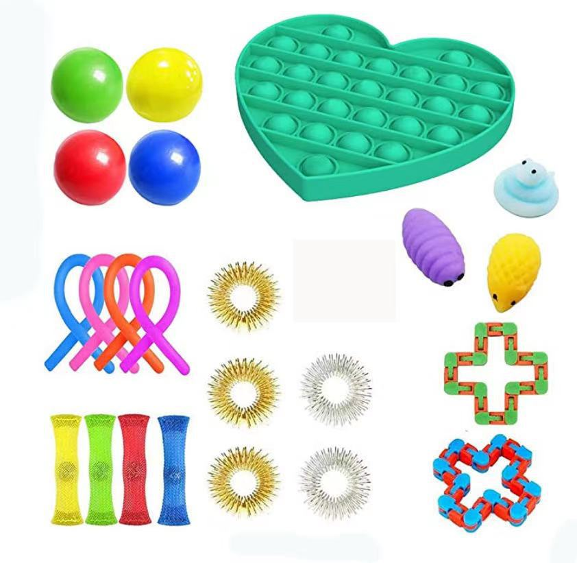 24Pack Fidget Toys Stress Relief Toys Autism Anxiety Relief Stress Pop Bubble Fidget Sensory Decompression Toy for Kids Adults enlarge
