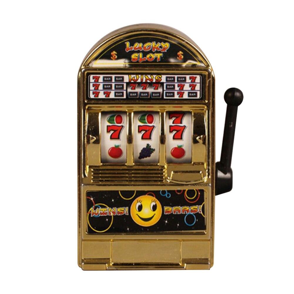 Mini juego de frutas no tóxico para niños, caja de dinero de mano a la moda, máquina tragamonedas de escritorio descompresión divertida