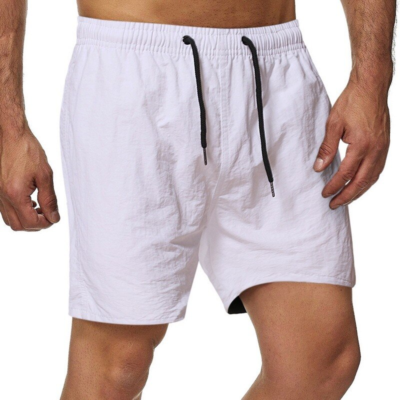 Мужские летние шорты Pui tiua 2021, мужские однотонные льняные шорты, мужские летние свободные дышащие повседневные шорты, пляжные шорты