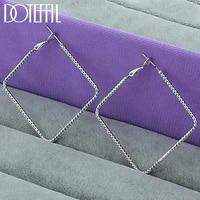doteffil 925 sterling silver simple square hoop earrings earrings for women wedding engagement jewelry
