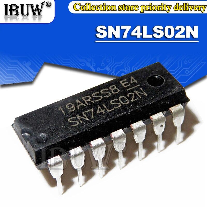 100 шт. SN74LS02N DIP14 SN74LS02 74LS02N 74LS02 DIP интегрированный IC