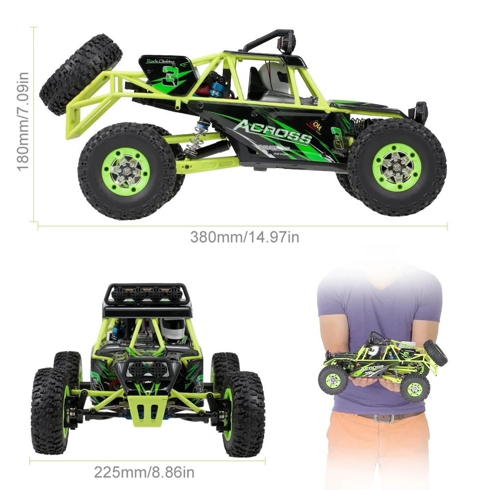 RC Car WLtoys 12428 2.4G 4WD RC Car 50km/h High Speed Cars Monster Truck Radio Control RC Buggy Off-Road Electric Adult Toy enlarge