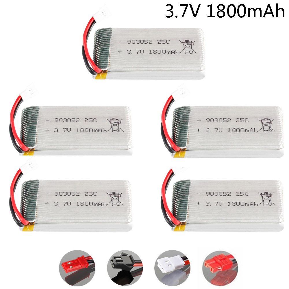 5 Pçs/lote lipo 1800 v 3.7 mAh Bateria para SYMA KY601S X5 X5S X5C X5SC X5SH X5SW M18 H5P HQ898 H11D H11C T64 T04 T05 F28 F29 T56 T57