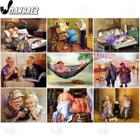 diamond painting happy old couple 5d diy wall art happy life sticker diamond embroidery modern home room decoration gift
