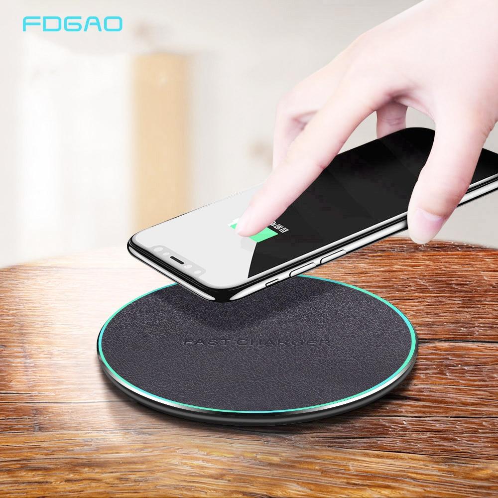 Беспроводное зарядное устройство FDGAO Qi 10 Вт, быстрая зарядка для Samsung S20 S10 Note 10 9 iPhone 11 XS X XR 8, беспроводная станция быстрой зарядки