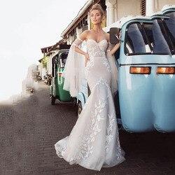 Lorie Spaghetti Praia Vestido de Noiva 2019 Apliques de Renda Ilusão Boho Vestidos de Noiva Vestido De Novia Vestidos de Casamento