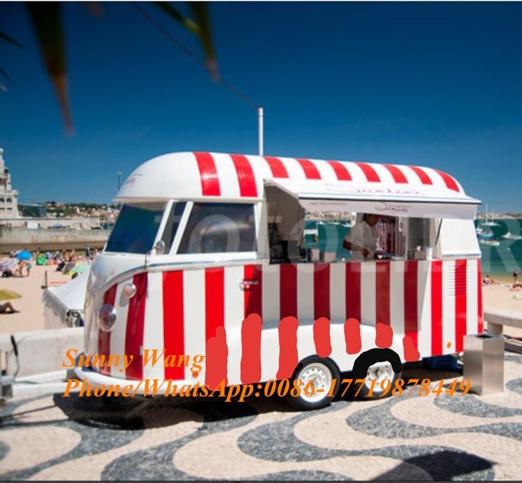 Nuevo diseño de carrito de comida móvil, kiosko de comida para perros calientes, furgoneta de comida para helados, carrito para bebidas de playa en venta