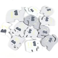 elephant blocks toy puzzle enlightenment balance wooden blocks with numbers baby learning early education for childrens gift
