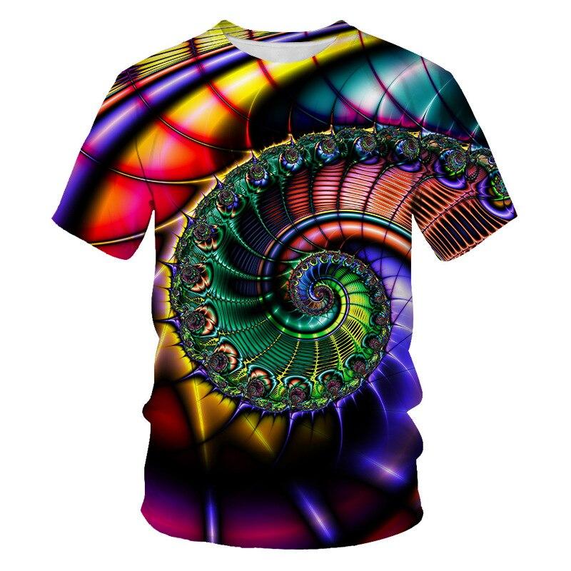 Divertidas camisetas psicodélicas con estampado de Cachemira, novedad de 2020, camisetas de manga corta para hombres y mujeres, Harajuku Streetwear, camisetas masculinas