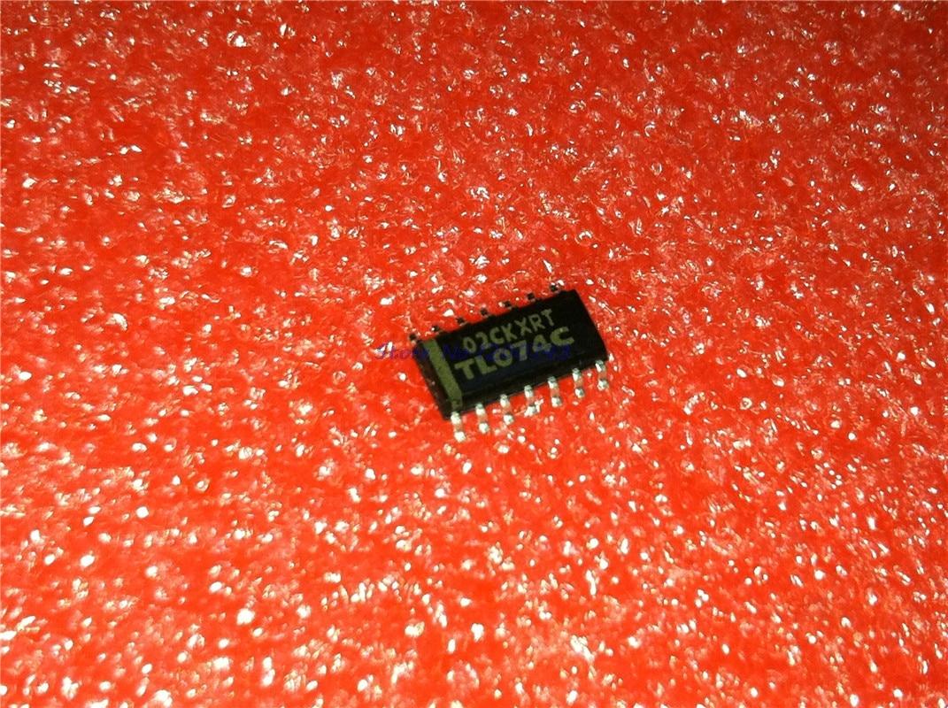 10 unids/lote TL074C TL074CDR TL074 SOP-14 amplificadores operativos-Op Amps Quad bajo ruido JFET en Stock