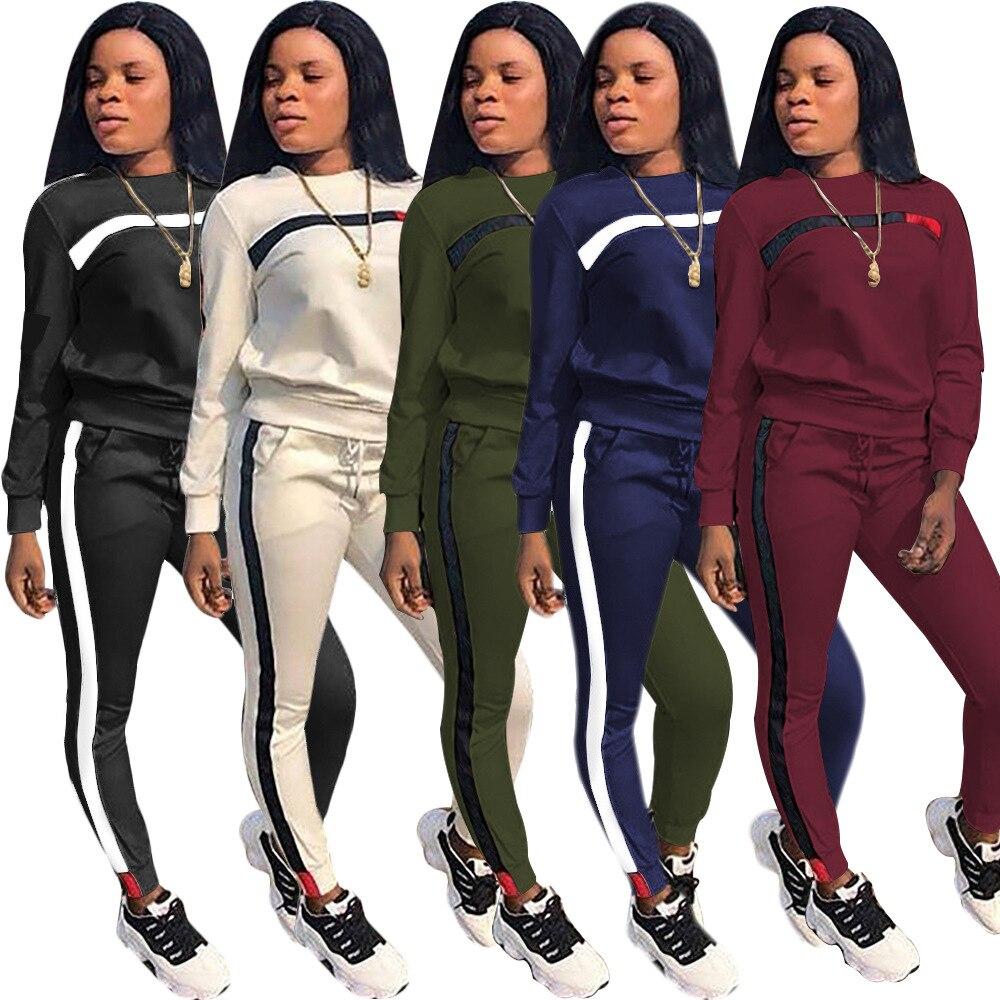 Autumn Casual Women Long Sleeve Hoodies Tops Pants Tracksuit Sweatshirt Pant Suit Jogging Set Outwear Women Sportsuits