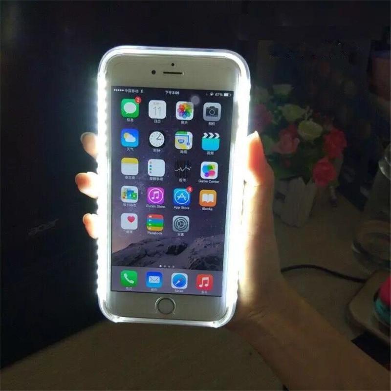 Para o iphone 7 8 plus light up selfie flash caso de telefone foto luz preenchimento artefato para iphone 11x6 s 5S plus 8 capa casos