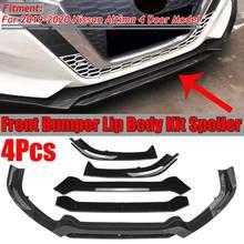 Un ensemble en Fiber de carbone Look/noir voiture avant pare-chocs séparateur lèvre corps Kit Spoiler diffuseur protecteur pour Nissan pour Altima 2019 2020