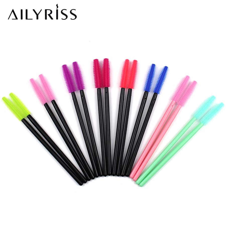 Disposable Silicone Gel Eyelash Brush 500 PCS Brushes for Eye Lashes Extension Grafting Mascara Brushes Wands Applicator Makeup