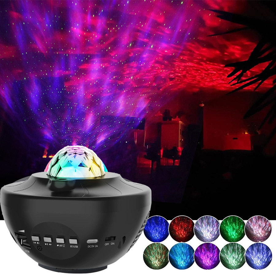 Colorful Starry Sky Galaxy Projector Nightlight Child Blueteeth USB Music Player Star Night Light Ro