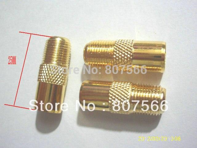 مقبس F أنثى مطلي بالذهب إلى IEC PAL DVB-T ، موصل RF ذكر ، 100 قطعة ، جديد