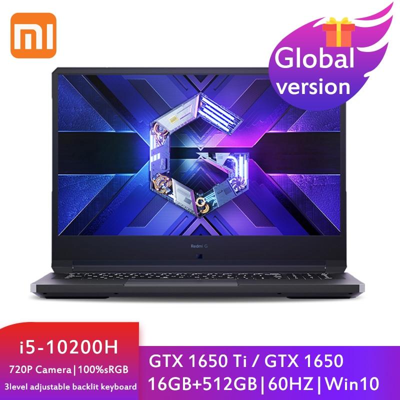 Review Xiaomi Redmi G Gaming Laptop Computer 16.1 Inch i5-10200H Notebook GTX1650TI /GTX 1650 16GB DDR4 512GB SSD 100%sRGB 60Hz Game PC