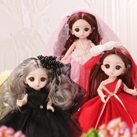mini wedding dress bjd doll 16 cm fashion princess dress set doll 13 joint movable 8 points dress up girl toy doll birthday gift