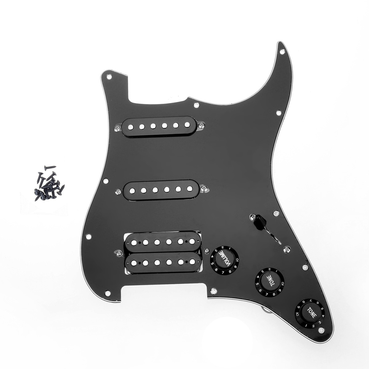 Muiclily-golpeador HSS con 11 orificios para guardabarros, conjunto de pastillas para guitarra...