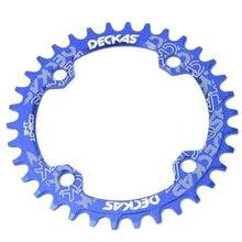 Deckas rond largeur étroite pignon VTT VTT vélo 104Bcd 32T manivelle pièces 104 Bcd bleu
