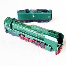 1/87 Alloy Car Steam Train Diesel Locomotive Diecast Metal Train Model Metal Train Decoration With Light Music Children Boy Toy
