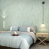 modern concise style small leaf wallpaper linen non woven fabric fresh home walls decor bedroom living room sofa background warm
