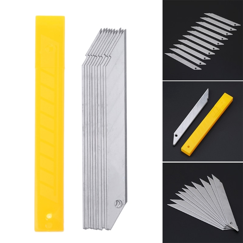 japan nt cutter spare replacement blade bd 100 small art blade 9mm 30 degrees 50blades pack for d 400 d 1000 c 400 c 1500 10Pcs/Box 30 Degrees Cutter Blade Trimmer Sculpture Blade Utility Stainless Steel Paper Cutter School Supplies