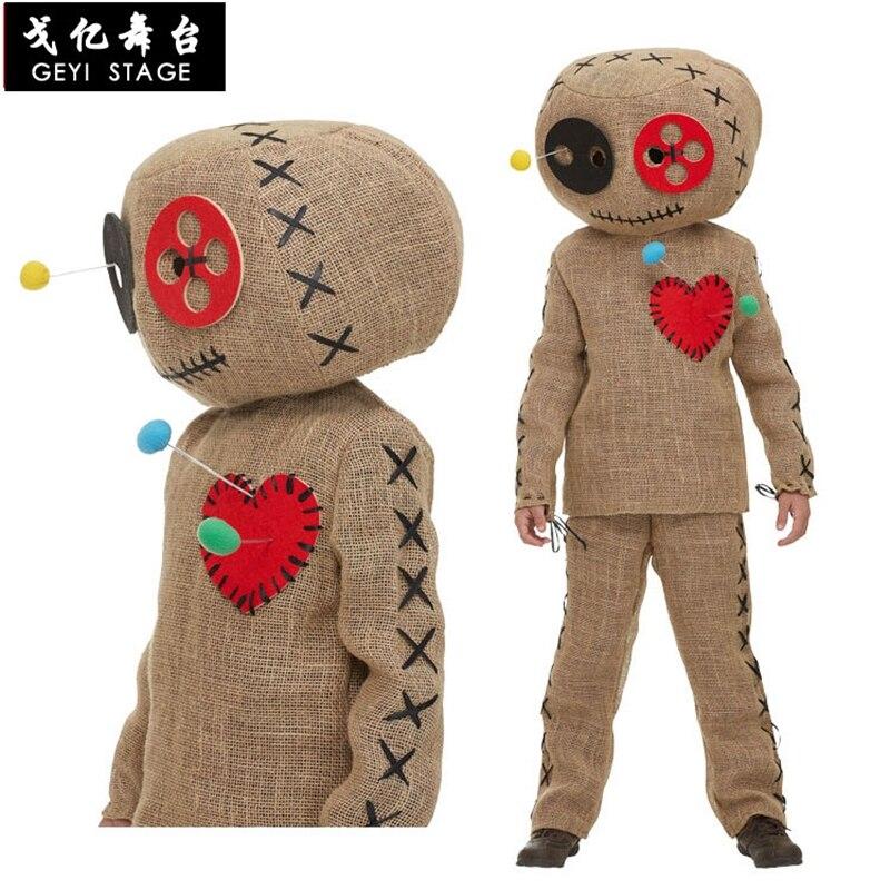 Deluxe Uniform Costume Burlap Voodoo Doll Halloween Party Cosplay Adult Kids Children Dressing Up Fancy Performance Harmless hot