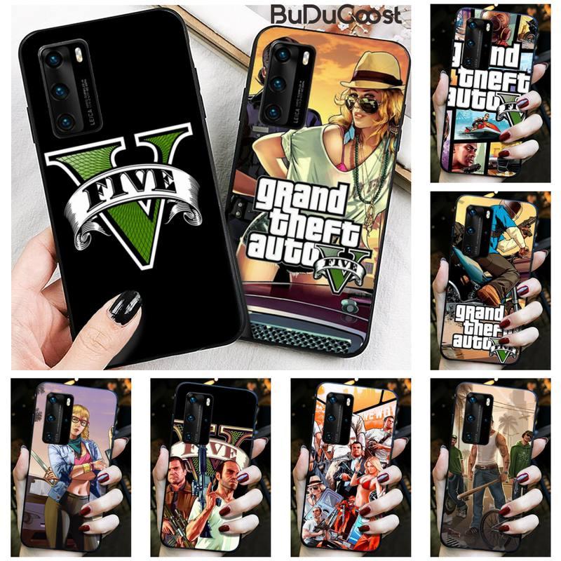 HNBLJ rockstar gta 5 Grand Theft Phone Case for Huawei P20 P30 P20Pro P20Lite P30Lite P10 P Smart plus P10Lite P40 Pro P40 lite