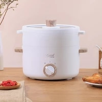 multifunctions electric cooker 1 5l capacity desktop mini hot pot portable skillet fast heating 600w electric cooking pot