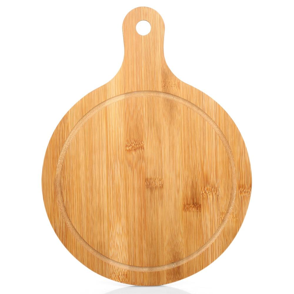 Bamboo Chopping Block Pizza Plate Natural Cutting Board Kitchen Chopping Board
