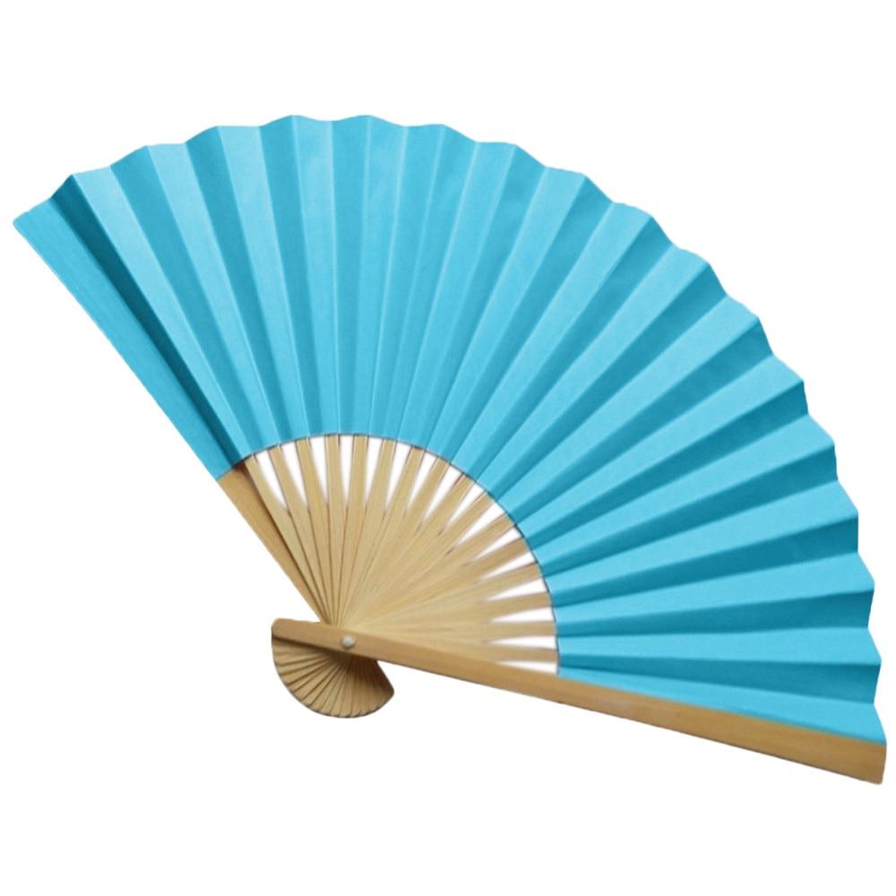 Традиционный китайский вентиляторы ручной бумажные веера бамбуковый складной вентиляторы ручной сложенный веер для венчания, можно держа...