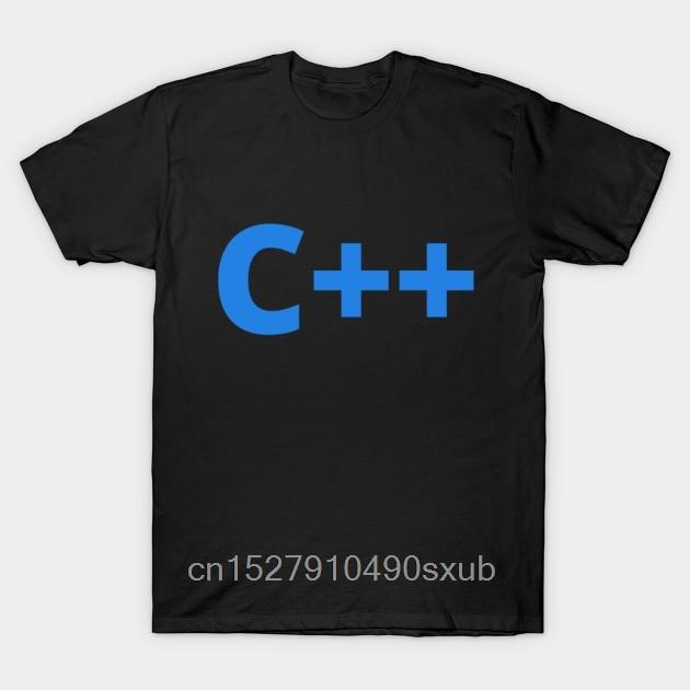 Męska koszulka Cartoon Fun C + + modna, kreatywna koszulka z grafiką