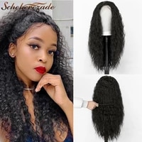 black lace front wigs synthetic straight long wigs for black women cosplay party 13%c3%973 lace front wig heat resistant scheherezade