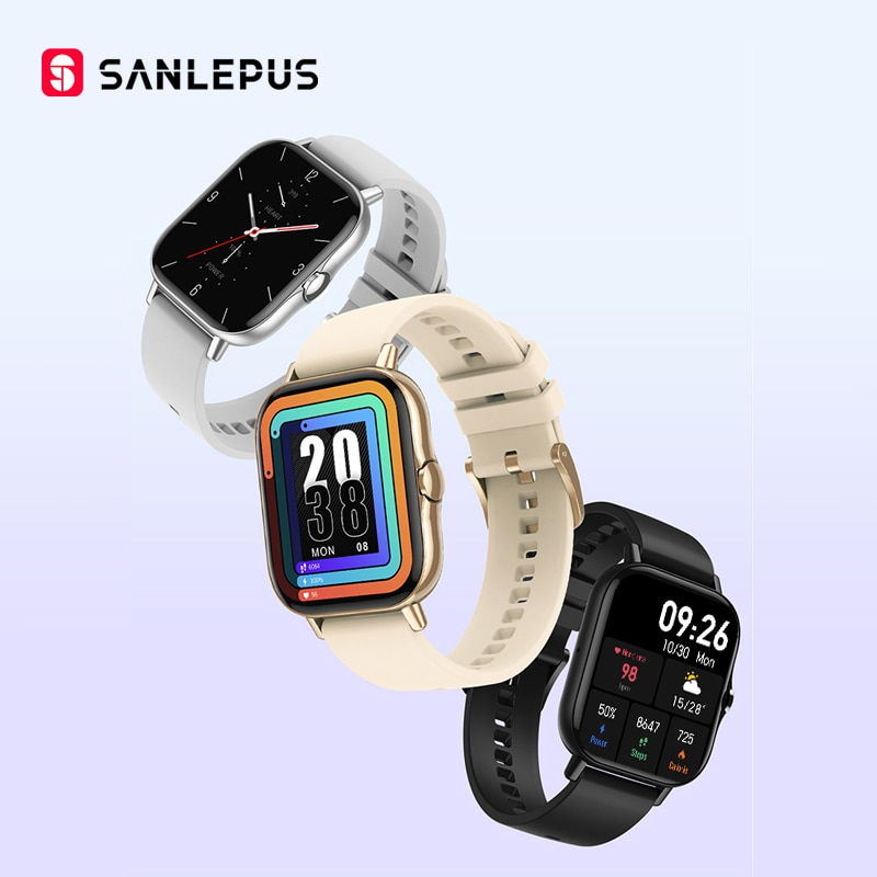 2021 Newest SANLEPUS 1.78 inch Smart Watch Bluetooth Call Smartwatch Men Women Waterproof Wristwatch