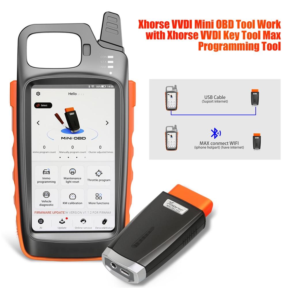الأصلي Xhorse VVDI مفتاح أداة ماكس مع VVDI أداة صغيرة OBD مفتاح بعيد مبرمج زائد VVDI أداة صغيرة OBD دعم BT